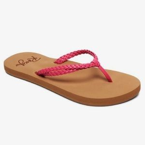 New ROXY girl braided flip flops / sandals